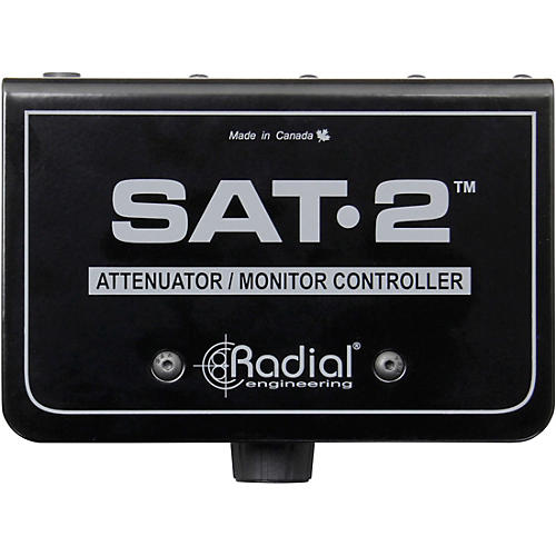 Open Box Radial Engineering SAT-2 Stereo Audio Attenuator & Monitor Controller