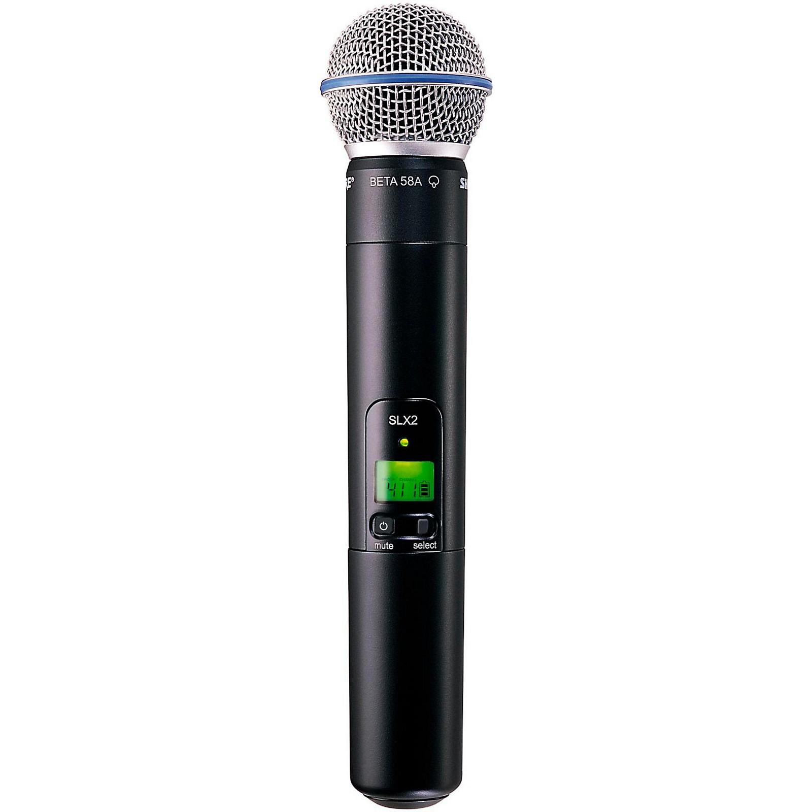 Open Box Shure SLX2/Beta58 Wireless Handheld Transmitter Microphone