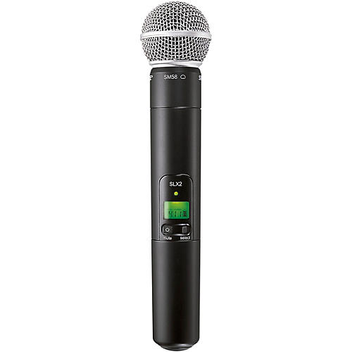 Open Box Shure SLX2/SM58 Wireless Handheld Microphone