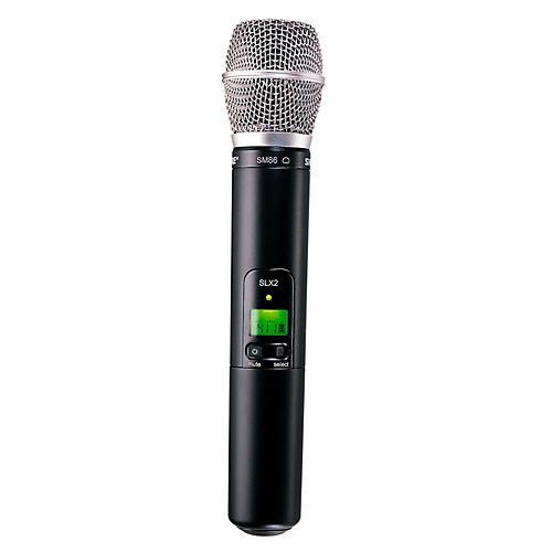 Open Box Shure SLX2/SM86 Wireless Handheld Transmitter Microphone