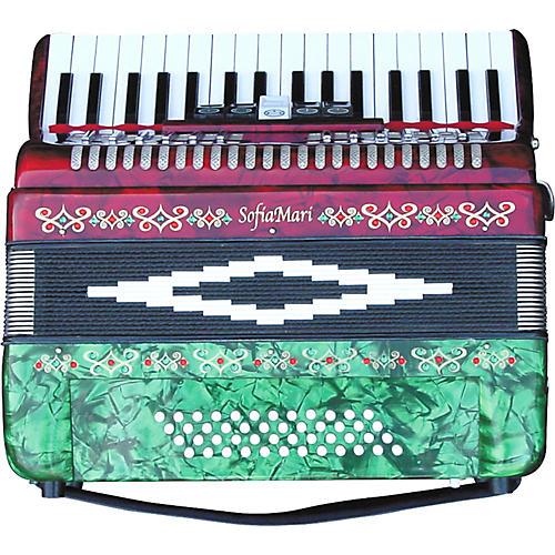 Open Box SofiaMari SM-3448 34 Piano 48-Bass Accordion