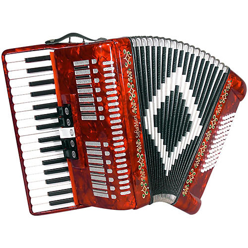 Open Box SofiaMari SM 3472 34 Piano 72 Bass Button Accordion