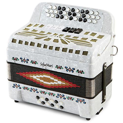 Open Box SofiaMari SMTT-3412, Two Tone Accordion
