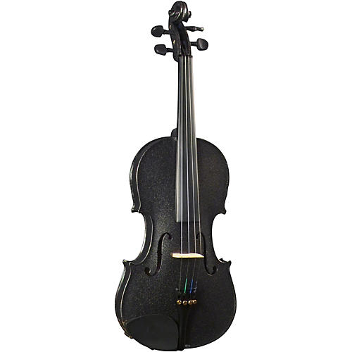 Open Box Cremona SV-130BK Series Sparkling Black Violin Outfit