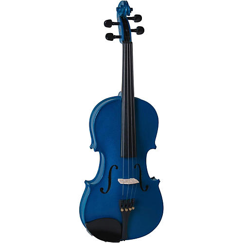 Open Box Cremona SV-130BU Series Sparkling Blue Violin Outfit