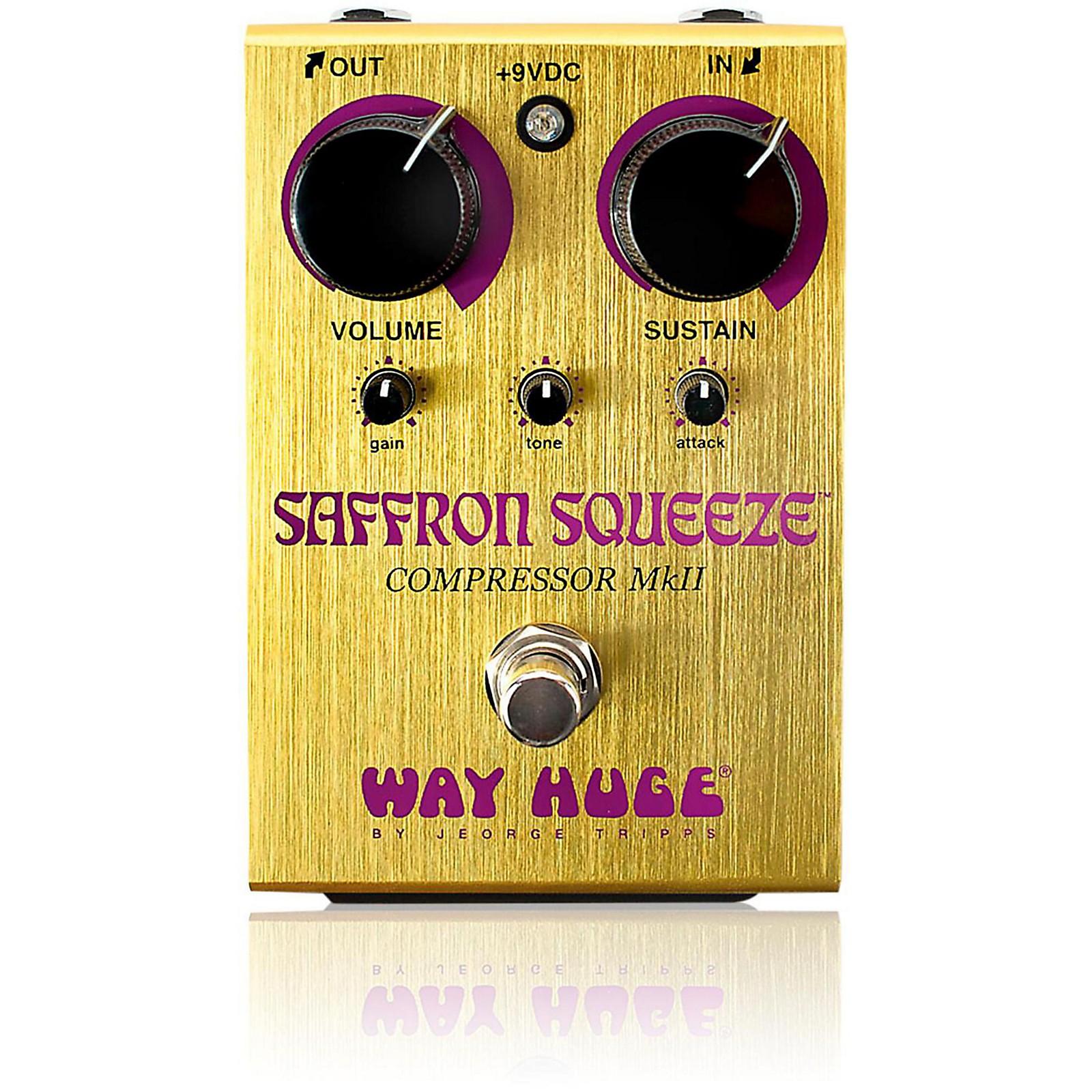 Open Box Way Huge Electronics Saffron Squeeze Compressor Guitar Effects Pedal