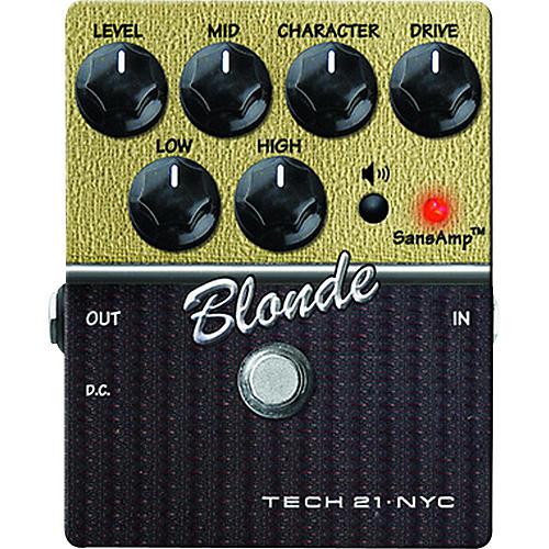 Open Box Tech 21 SansAmp Character Series Blonde V2 Distortion Guitar Effects Pedal