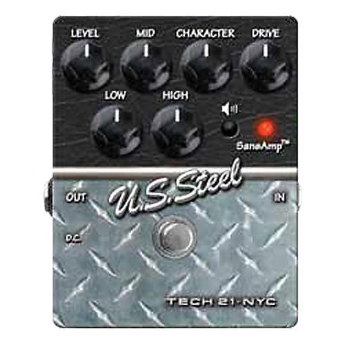 Open Box Tech 21 SansAmp Character Series U.S. Steel Distortion Guitar Effects Pedal