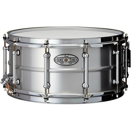 Open Box Pearl Sensitone Beaded Seamless Aluminum Snare Drum