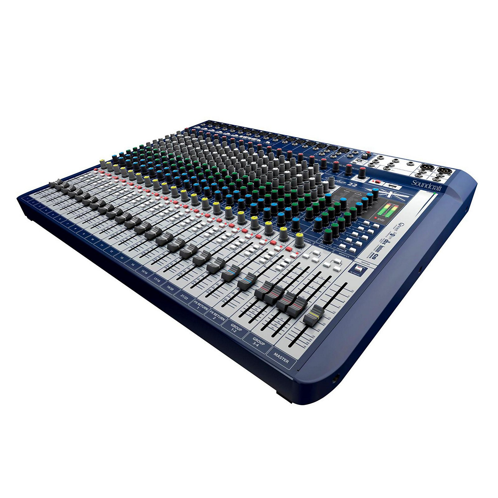 Open Box Soundcraft Signature 22 22-Input Analog Mixer with Effects
