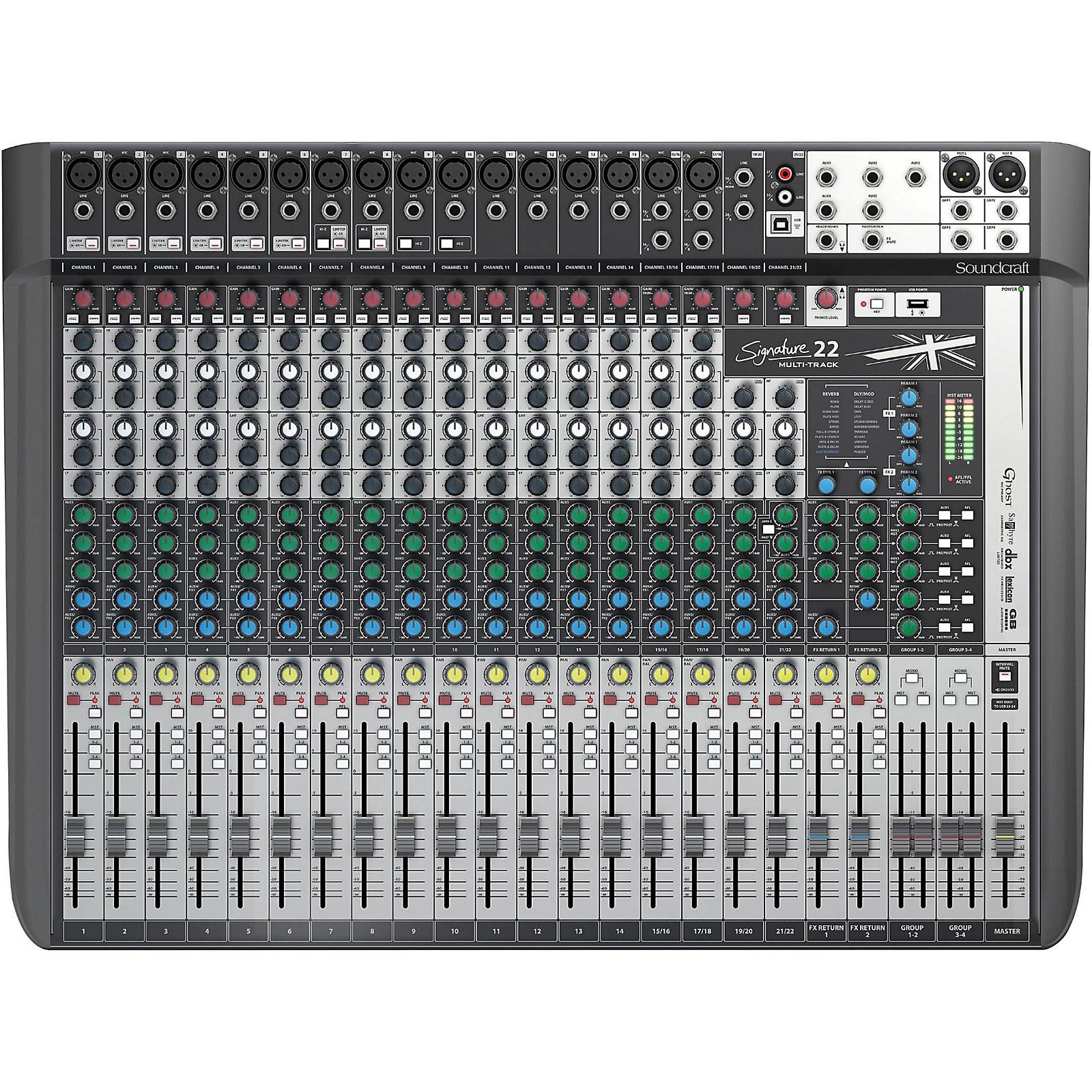 Open Box Soundcraft Signature 22MTK 22-Channel Multi-Track Mixer