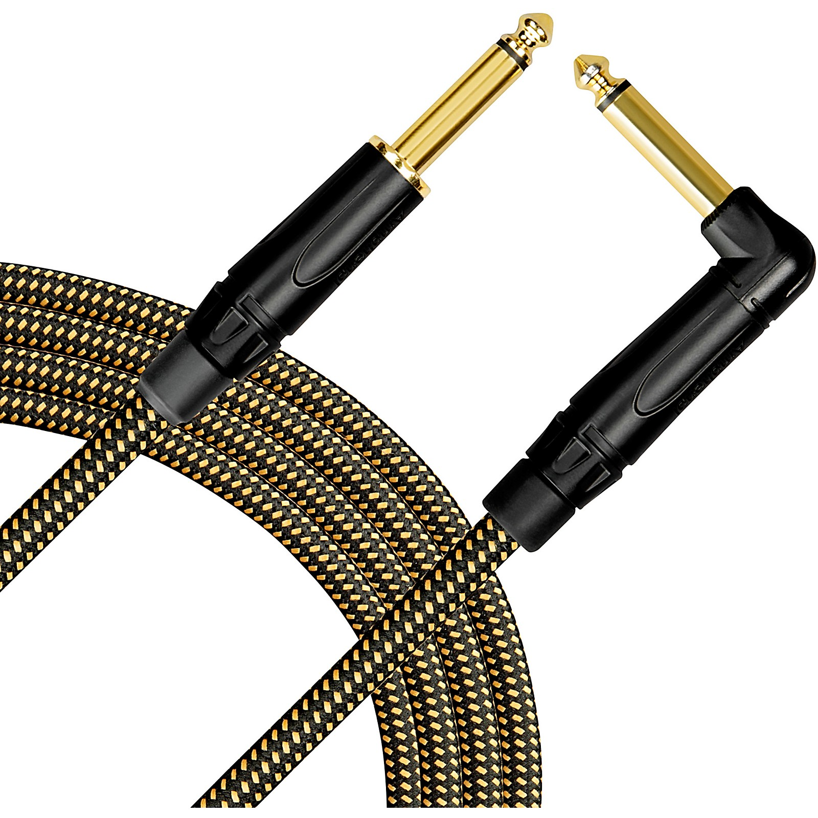 Open Box Livewire Signature Guitar Cable Straight/Angle Black and Yellow