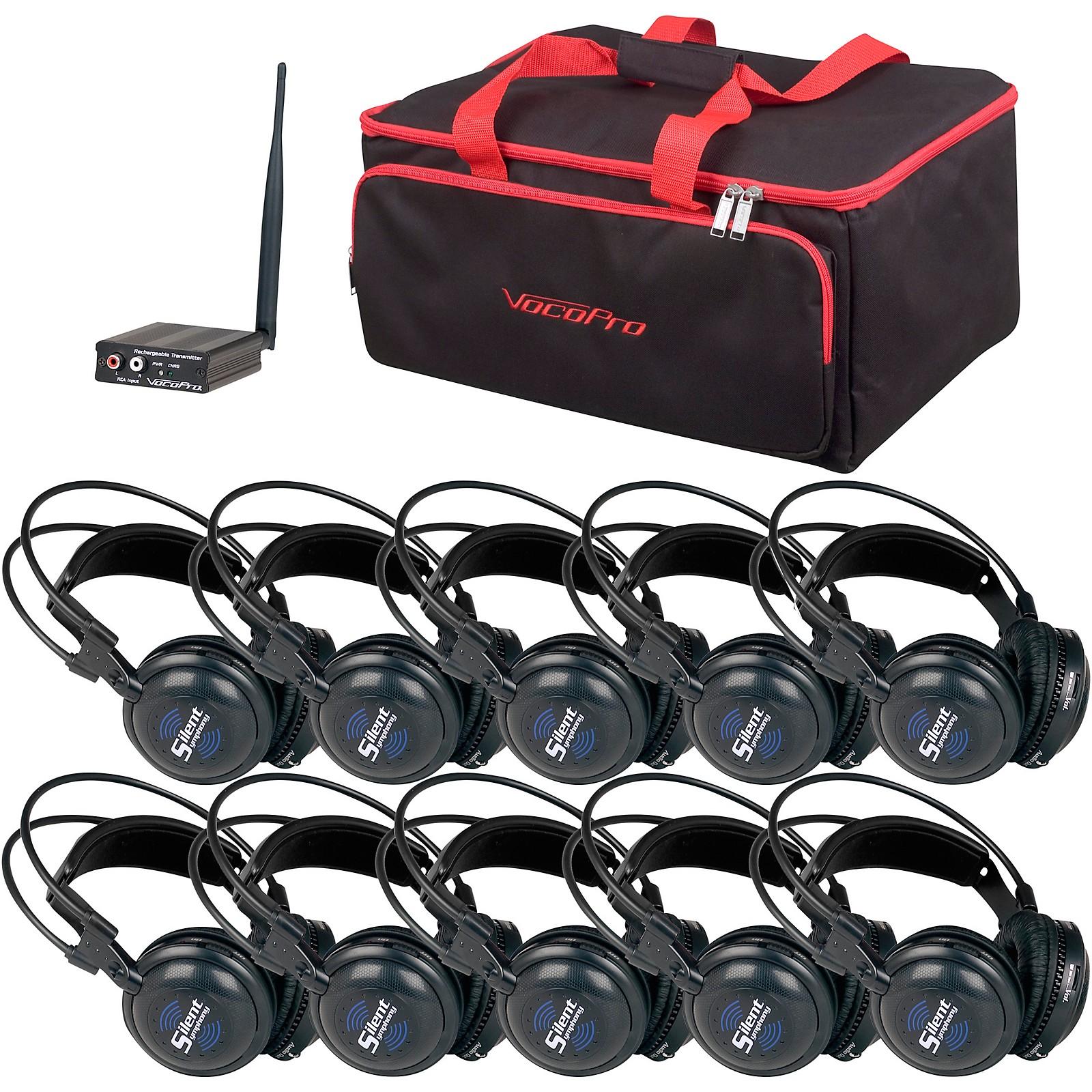 Open Box VocoPro SilentSymphony-Learn 10 Station Stereo Wireless Listening Center