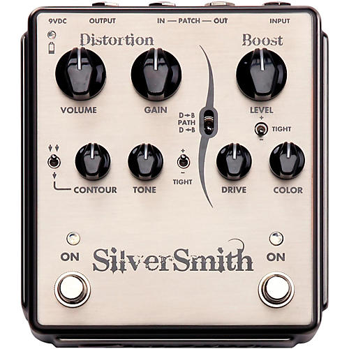Open Box Egnater Silversmith Distortion/Boost Guitar Effects Pedal