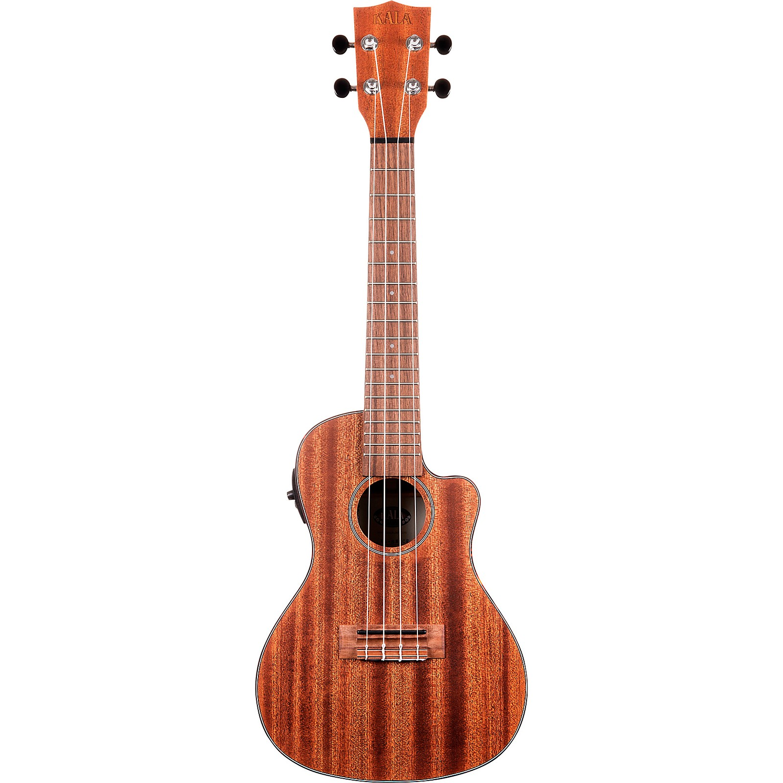 Open Box Kala Solid Mahogany Concert Cutaway Acoustic-Electric Ukulele