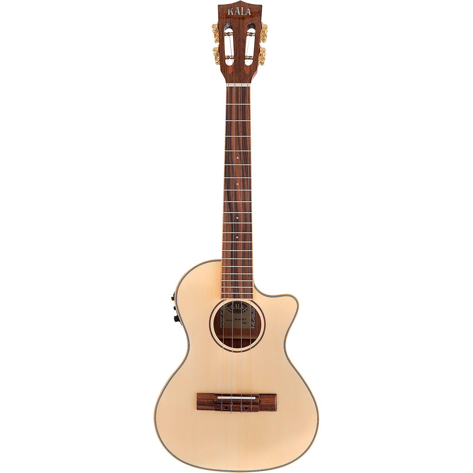Open Box Kala Solid Spruce Top Koa Gloss Cutaway Acoustic-Electric Tenor Ukulele