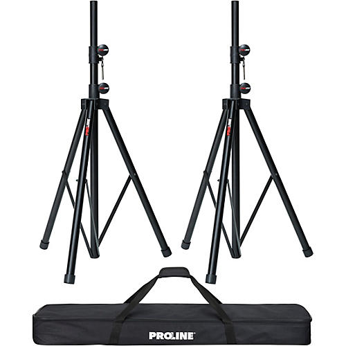 Open Box Proline Speaker Stand 2-Pack with Carrying Bag