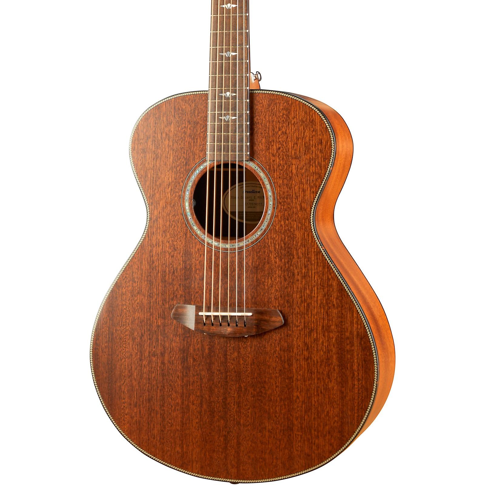 Open Box Breedlove Stage Series Concert E Mahogany-Mahogany LTD Acoustic-Electric Guitar