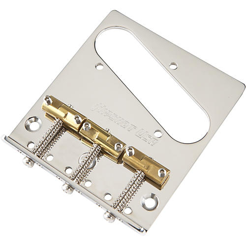 Open Box Hipshot Stainless Steel Tele Bridge 3 Hole Mount with Compensated Saddles