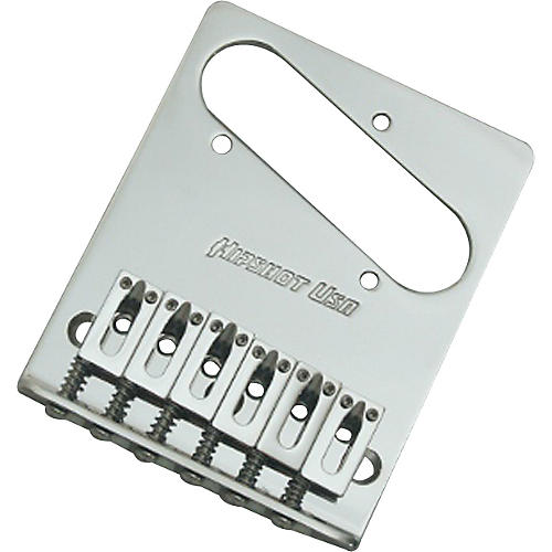 Open Box Hipshot Stainless Steel Tele Bridge 3 Hole Mount with Standard Saddles