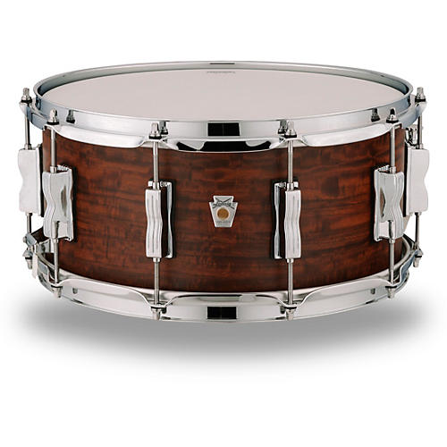 Open Box Ludwig Standard Maple Snare Drum with Aged Chestnut Veneer