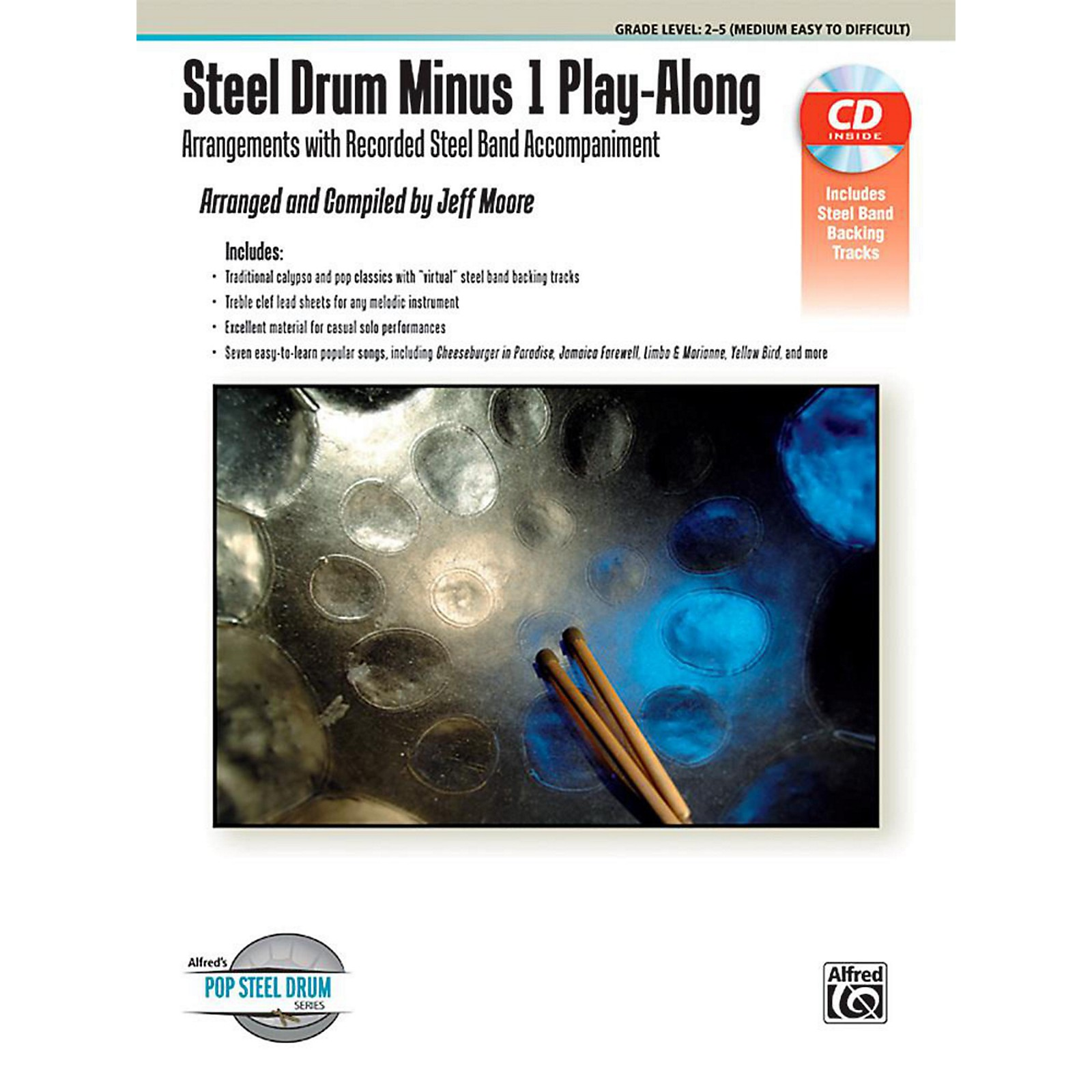 Open Box Alfred Steel Drum Minus 1 Play-Along - Book & CD