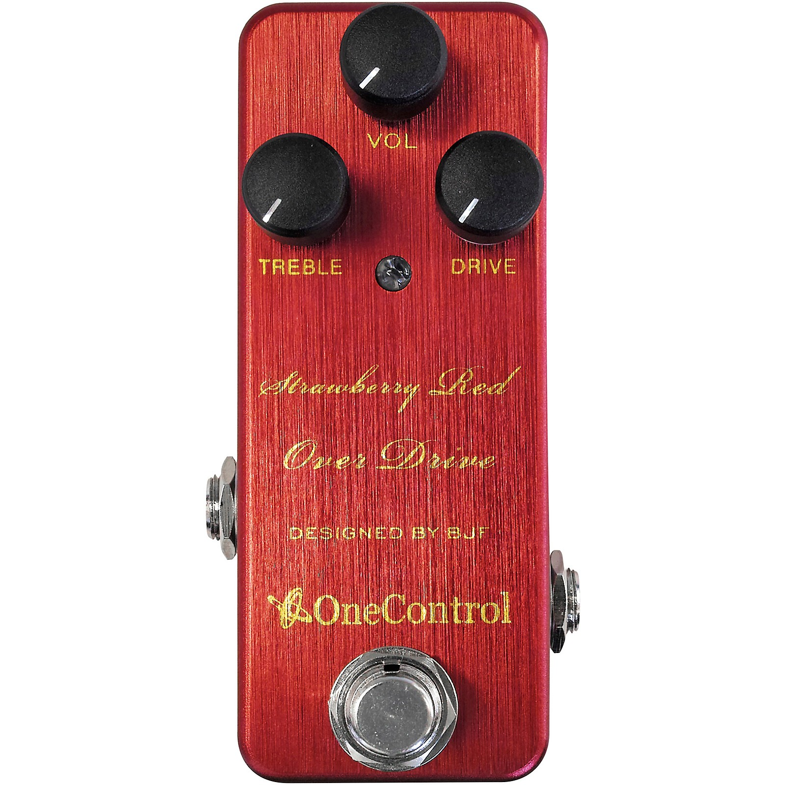 Open Box One Control Strawberry Red Overdrive Effects Pedal