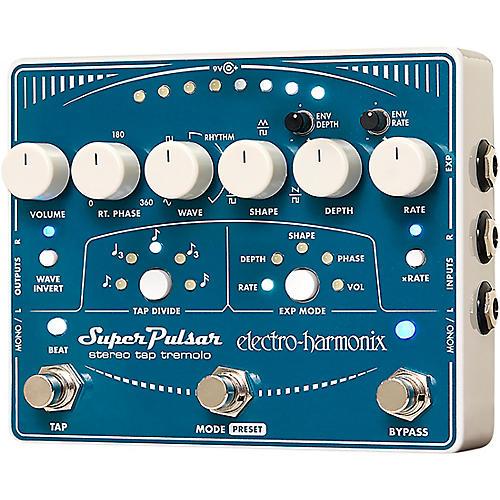 Open Box Electro-Harmonix Super Pulsar Tremolo Guitar Effects Pedal
