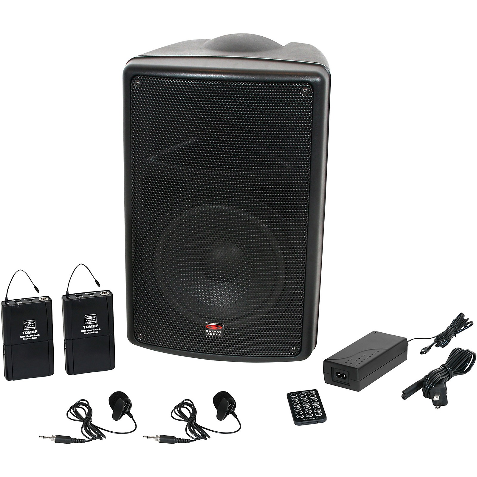Open Box Galaxy Audio TQ8-24VVN Traveler Quest 8 TQ8 Battery Powered Portable PA Speaker System With Two Receivers and Two Lav Microphones