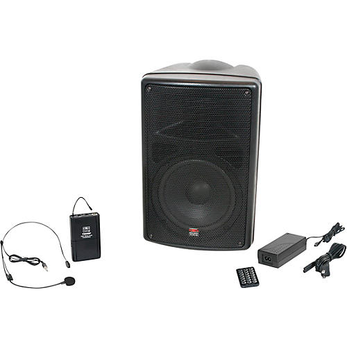 Open Box Galaxy Audio TQ8-40S0N Traveler Quest 8 TQ8 Battery Powered PA Speaker With One Reciever And One Headset Microphone