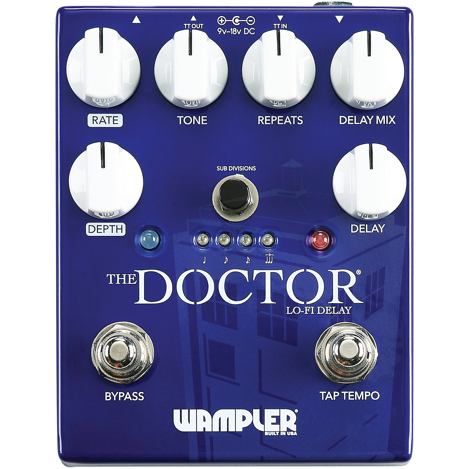 Open Box Wampler The Doctor Lo-Fi Delay Effects Pedal