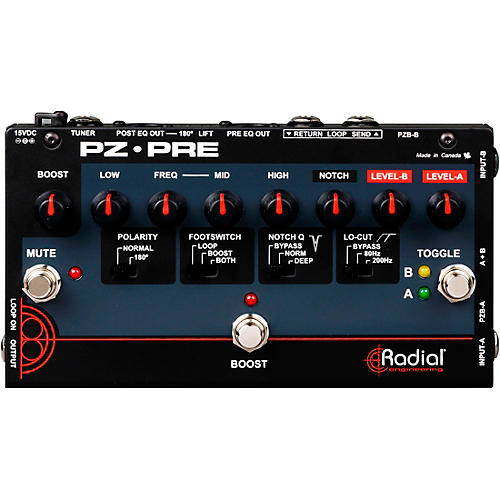 Open Box Radial Engineering Tonebone PZ-Pre Acoustic Direct Box Preamp