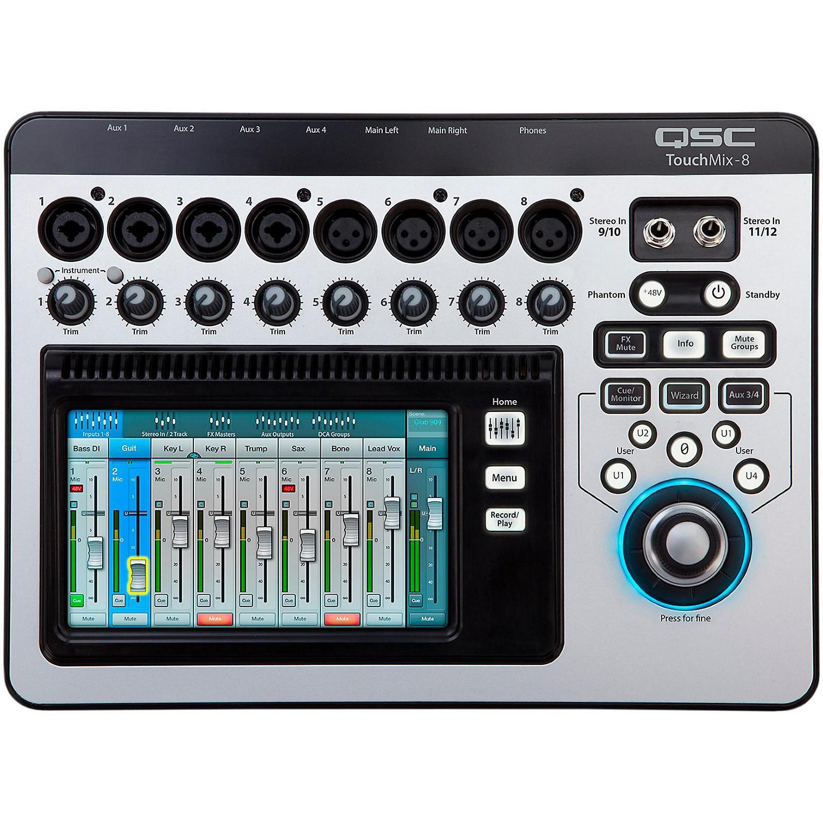 Open Box QSC TouchMix-8 8-Channel Compact Digital Mixer