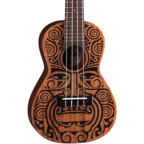 Open Box Luna Guitars Tribal Concert Ukulele