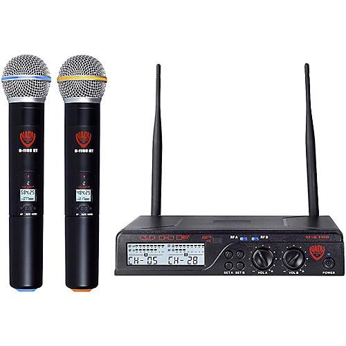 Open Box Nady U-2100 HT - Dual 100 Channel UHF Handheld Wireless Microphone System