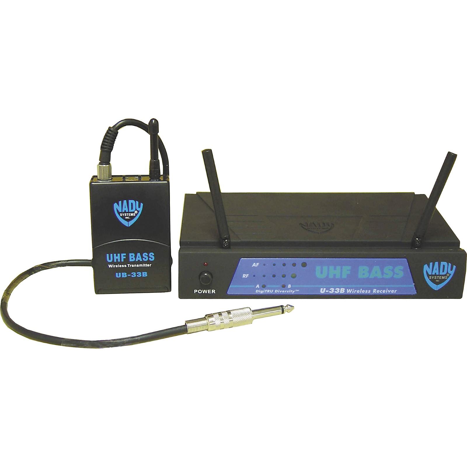Open Box Nady U-33B UHF Bass Wireless Microphone System