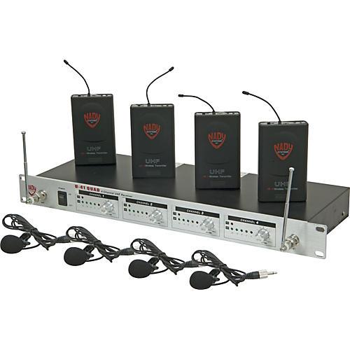 Open Box Nady U-41 Quad Omni Lav Wireless System (14/16/10/12)