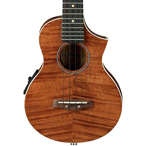 Open Box Ibanez UEW15E Flame Mahogany Concert Acoustic-Electric  Ukulele