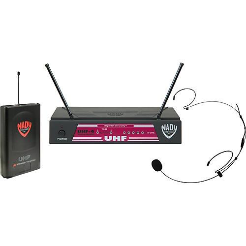 Open Box Nady UHF-4 LT/HM-20U (115) Headset Wireless System