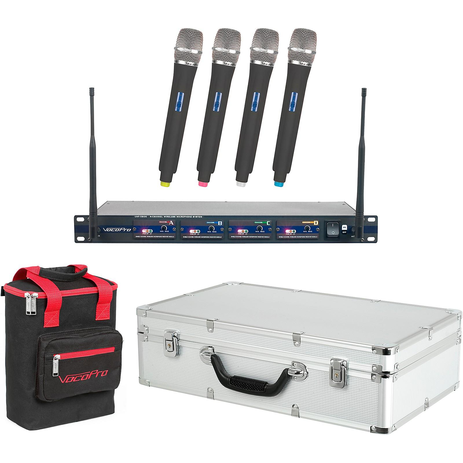 Open Box VocoPro UHF-5800 Plus 4-Mic Wireless System with Mic Bag
