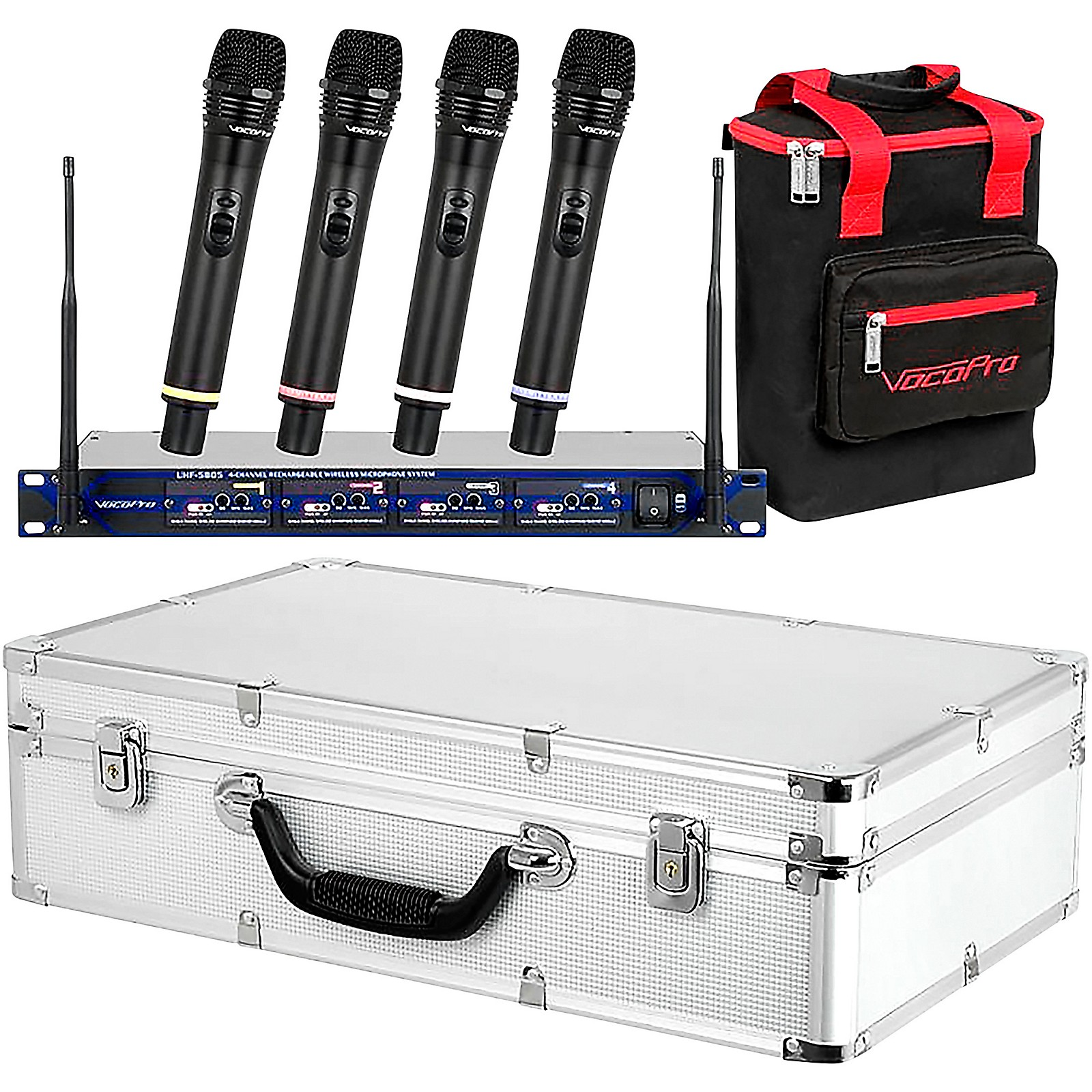 Open Box VocoPro UHF-5805 Plus Rechargeable Wireless System with Mic Bag