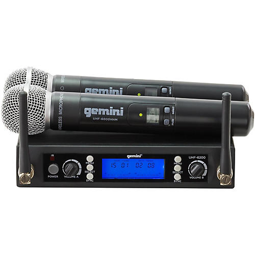 Open Box Gemini UHF-6200M Dual Handheld Wireless System