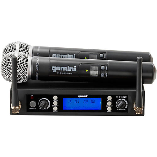 Open Box Gemini UHF-6200M UHF Dual Handheld system