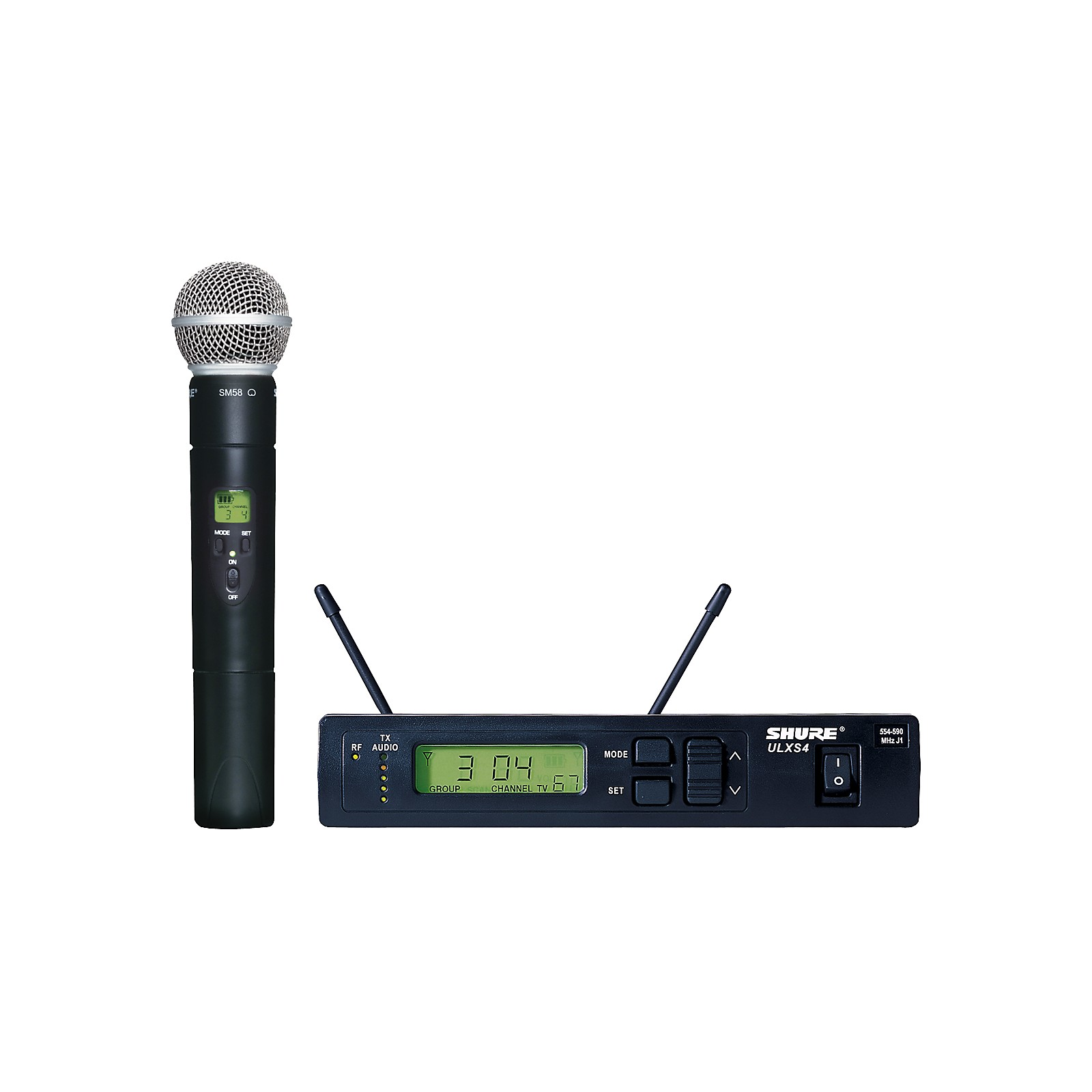Open Box Shure ULXS24/58 Handheld Wireless Microphone System