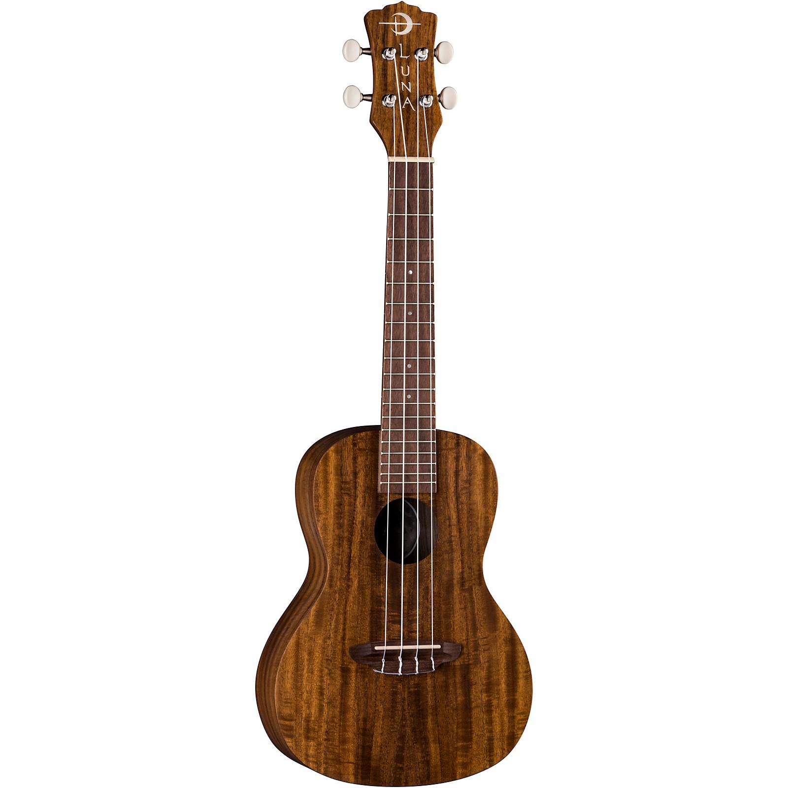 Open Box Luna Guitars Uke Flames Acacia Concert Ukulele
