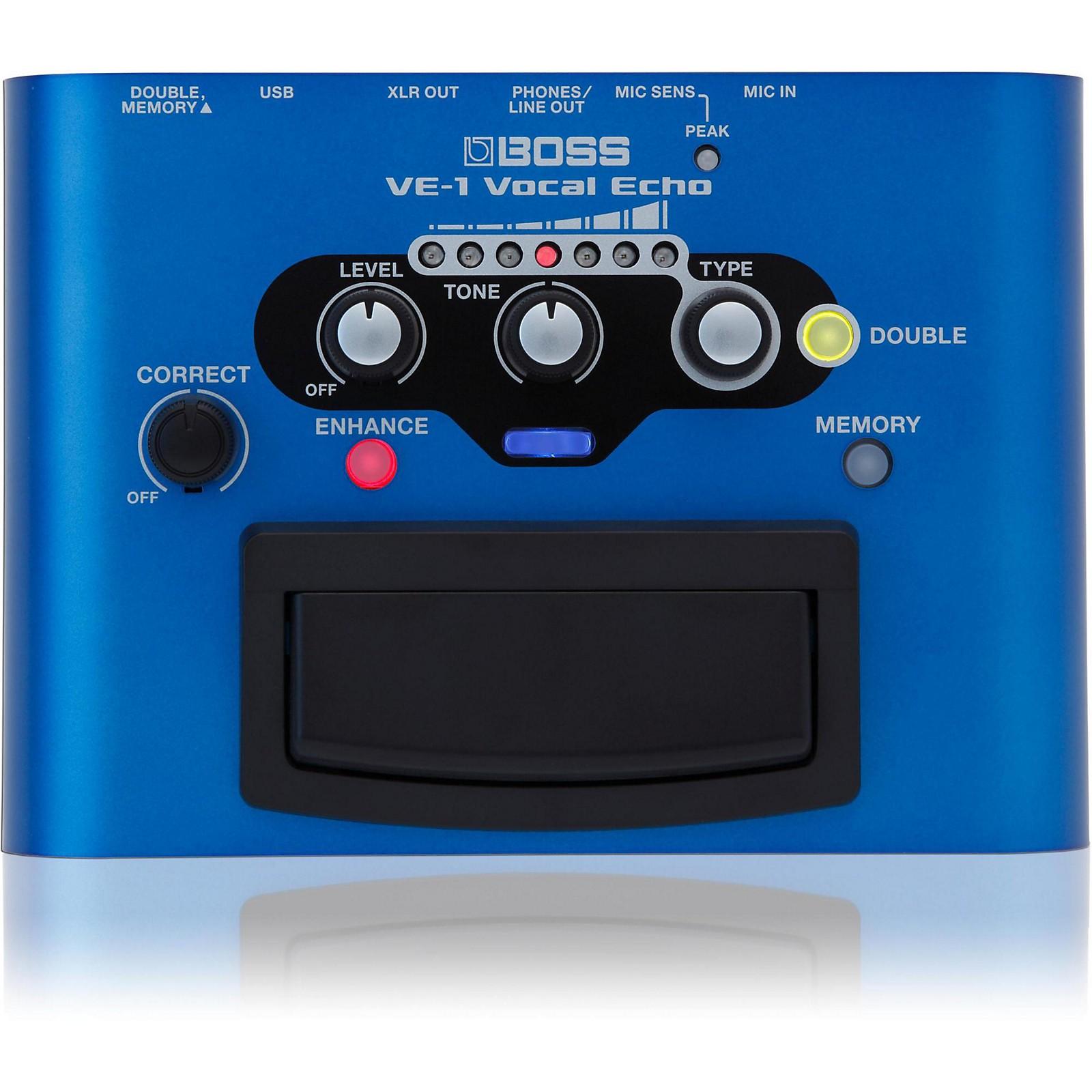 Open Box Boss VE-1 Vocal Echo Voice Effects Pedal