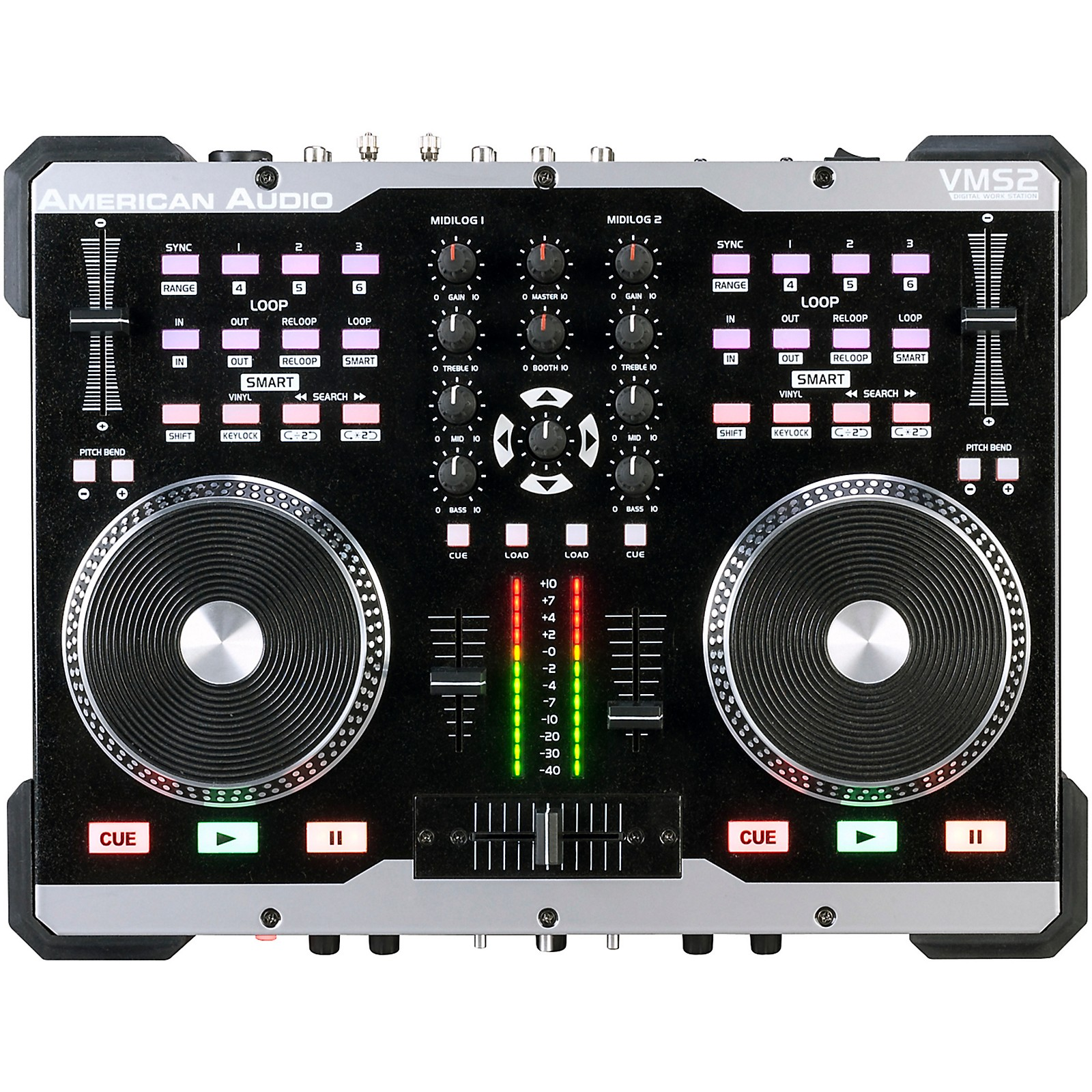 Open Box American Audio VMS2 2-Channel Compact DJ Midi Controller with Software