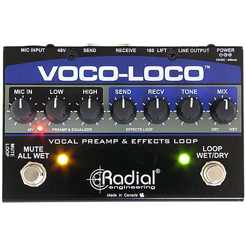 Open Box Radial Engineering Voco-Loco Vocal Preamp and Effect Switcher