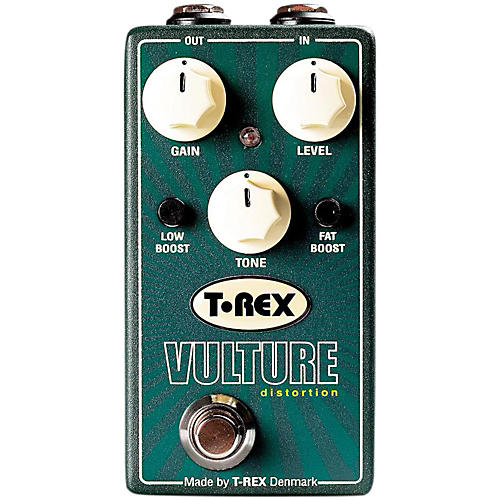 Open Box T-Rex Engineering Vulture Distortion Guitar Effects Pedal with Low and Fat Boost