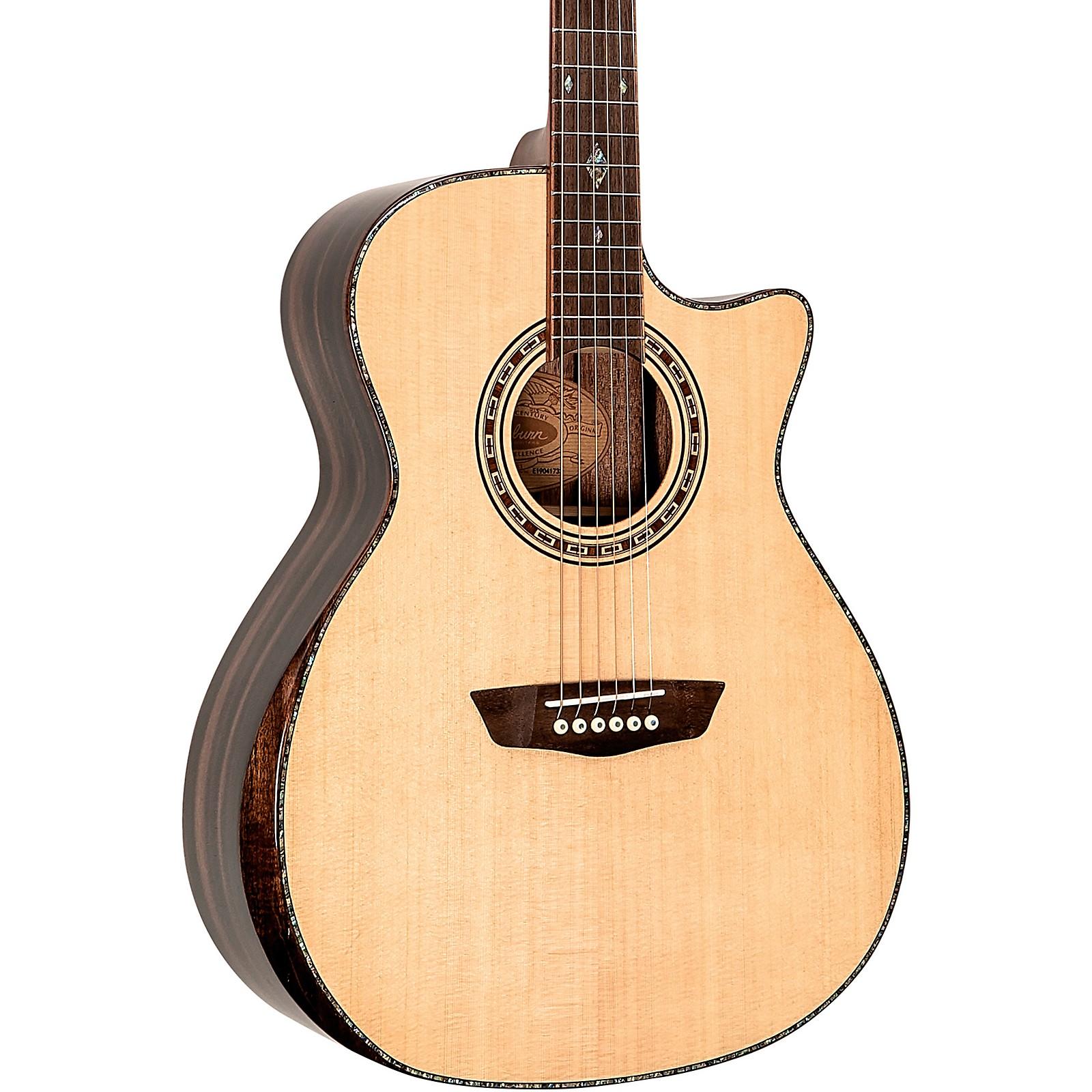 Open Box Washburn WCG80 Comfort Series Grand Auditorium Cutaway Acoustic-Electric Guitar